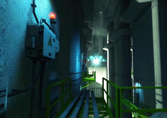 A relatively dark and forbidding image, by Mirror's Edge standards