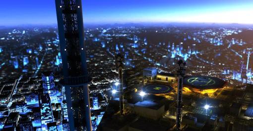 Pretty cityscape from the finale