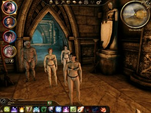 Your party must approach Andraste in their underwear.  I am not making this up.
